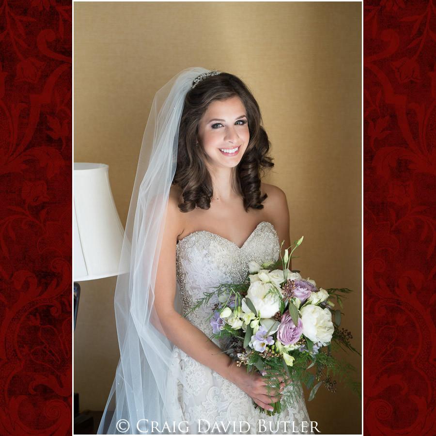 Natural Light Creative Bride Photo - Dearborn Inn Wedding Photo- Detroit Michigan Wedding Photographer - CDB Studios