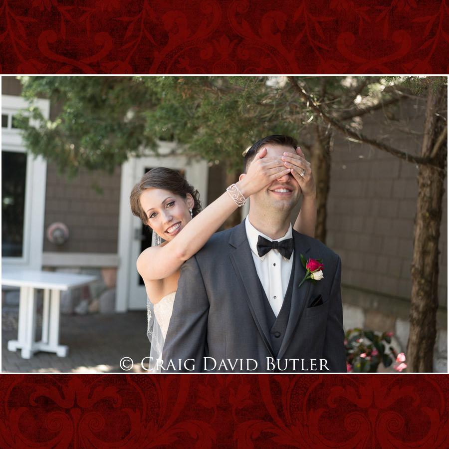 Bride & Groom First Look Clarkston Wedding Photographer - Oakhurst CC, Craig David Butler