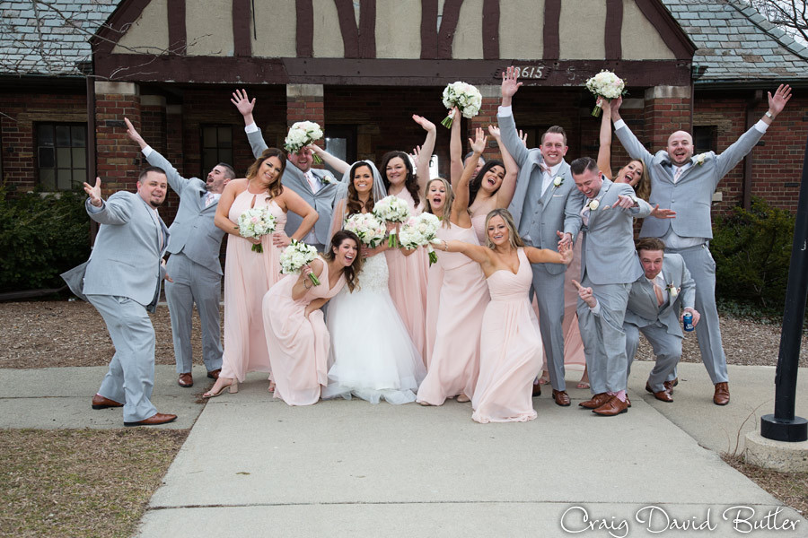 Bridal Party St. John's Plymouth Grand Ballroom Wedding, Craig David Butler