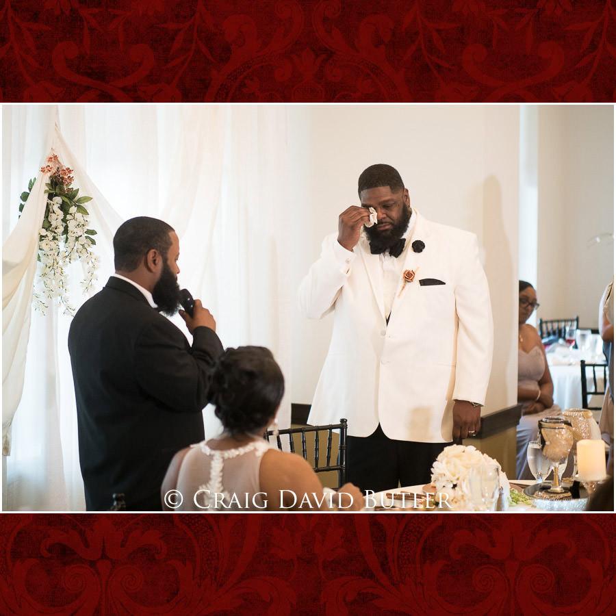 Best Man Speech Detroit Wedding Photographer - South Haven Wedding, Heritage Hall Reception, WMU, Kalamazoo MI - CDB Studios