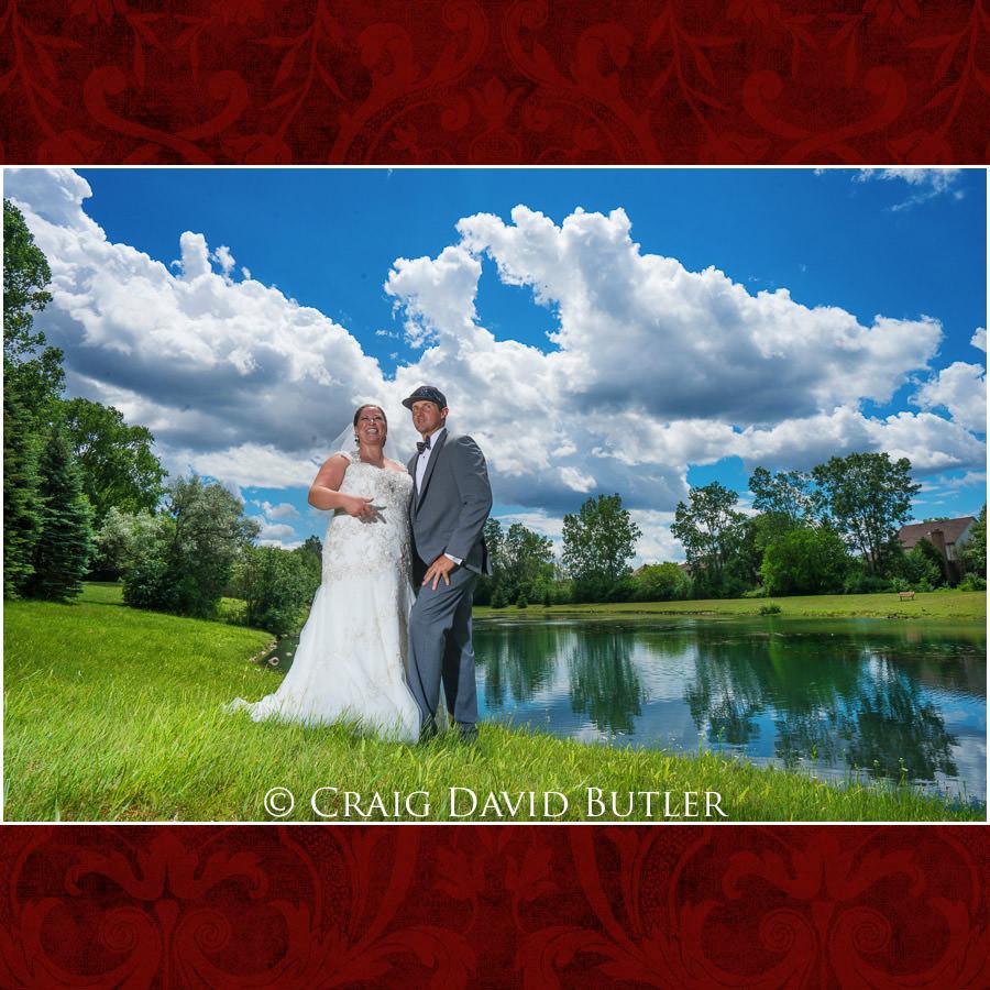 Bride Groom Pose - Michigan-Wedding-Photographer-Novi-CraigDavidButler