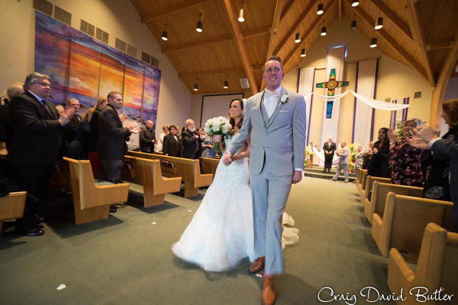 recessional - St. John's Plymouth Grand Ballroom Wedding, Craig David Butler