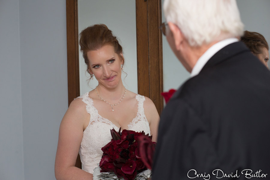 First look with dad Masonic Temple Detroit MI- Wedding Photographer Craig David Butler