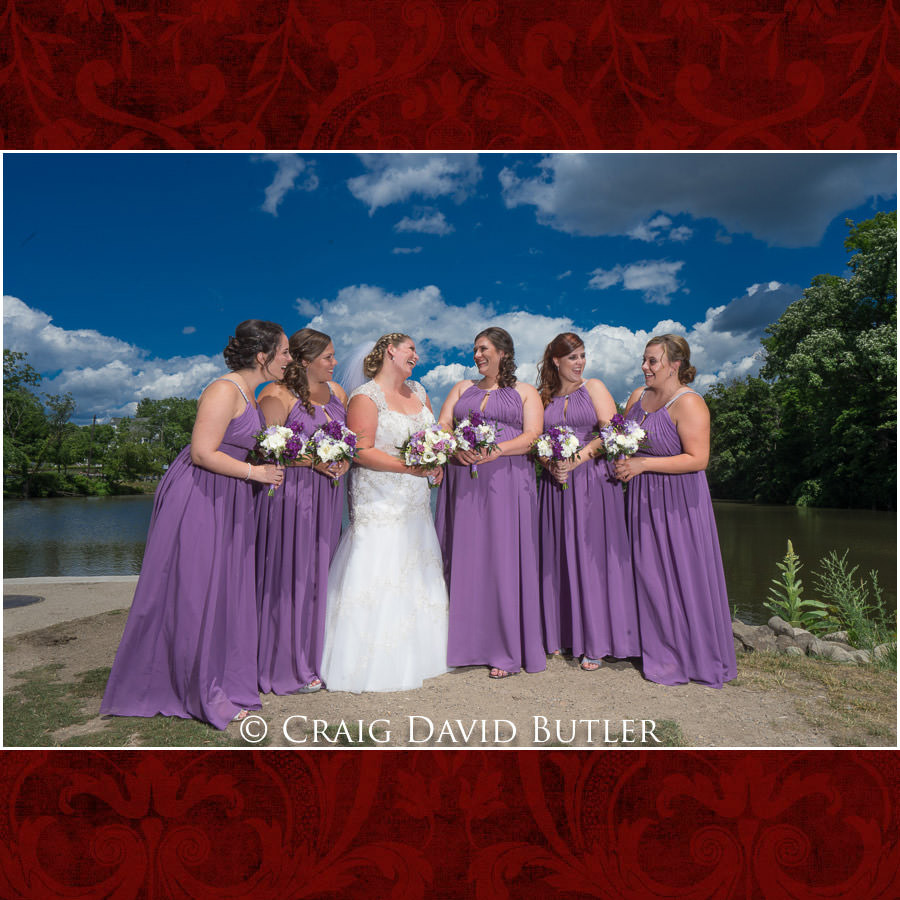 Bride Bridesmaids Michigan-Wedding-Photographer-Novi-CraigDavidButler