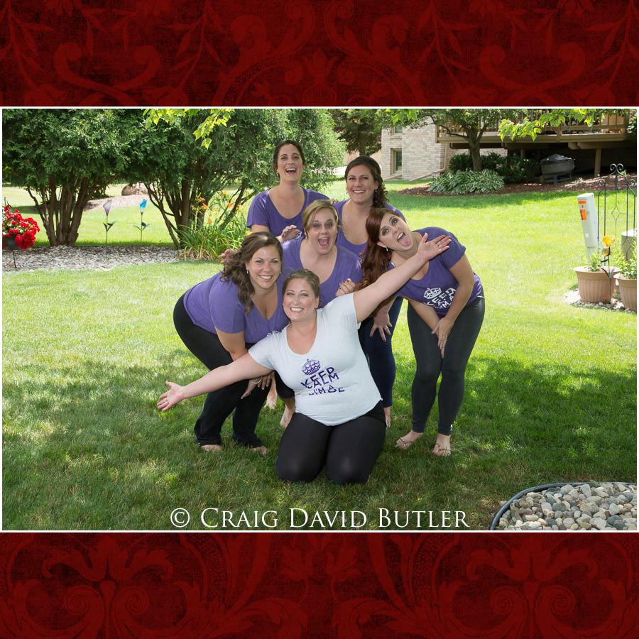 Bride Bridesmaids - Michigan-Wedding-Photographer-Novi-CraigDavidButler