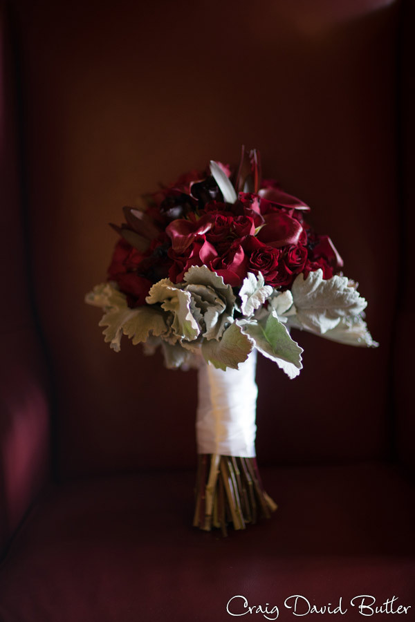 Bride Bouquet Masonic Temple Detroit MI- Wedding Photographer Craig David Butler