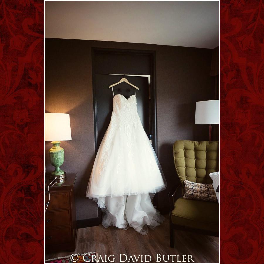 Bride Gown - Wedding Photos, Michigan League, St. Francis Azizi, Ann Arbor MI, CDBStudios
