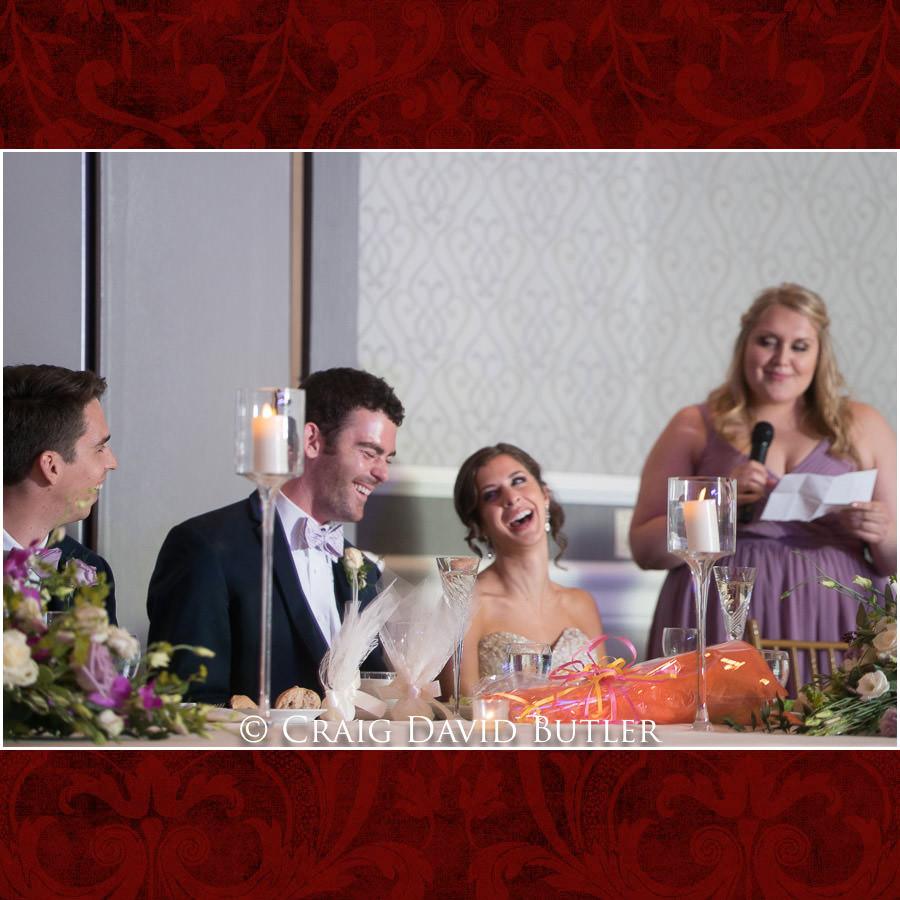 Maid of Honor Toast - Dearborn Inn Wedding Photo- Detroit Michigan Wedding Photographer - CDB Studios