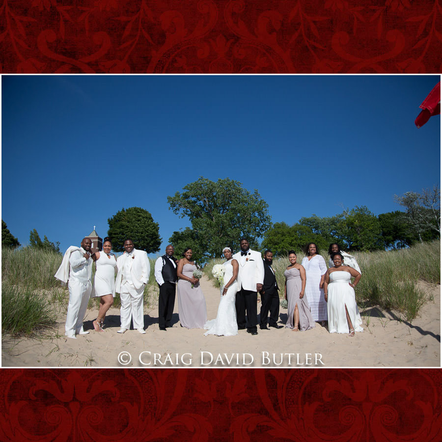 The Bridal Party - Detroit Wedding Photographer - South Haven Wedding, Heritage Hall Reception, WMU, Kalamazoo MI - CDB Studios
