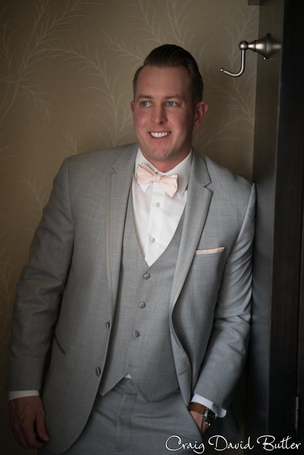 Groom Photo - St. John's Plymouth Grand Ballroom Wedding, Craig David Butler