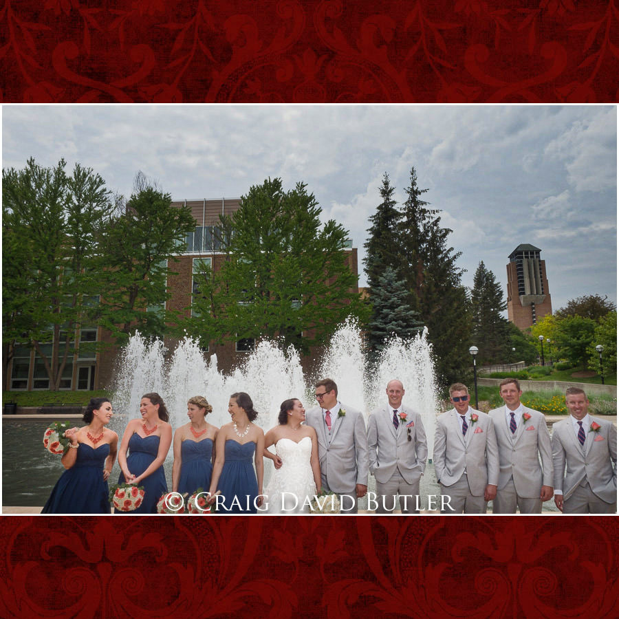 Bridal Party Poses - Wedding Photos, Michigan League, St. Francis Azizi, Ann Arbor MI, CDBStudios