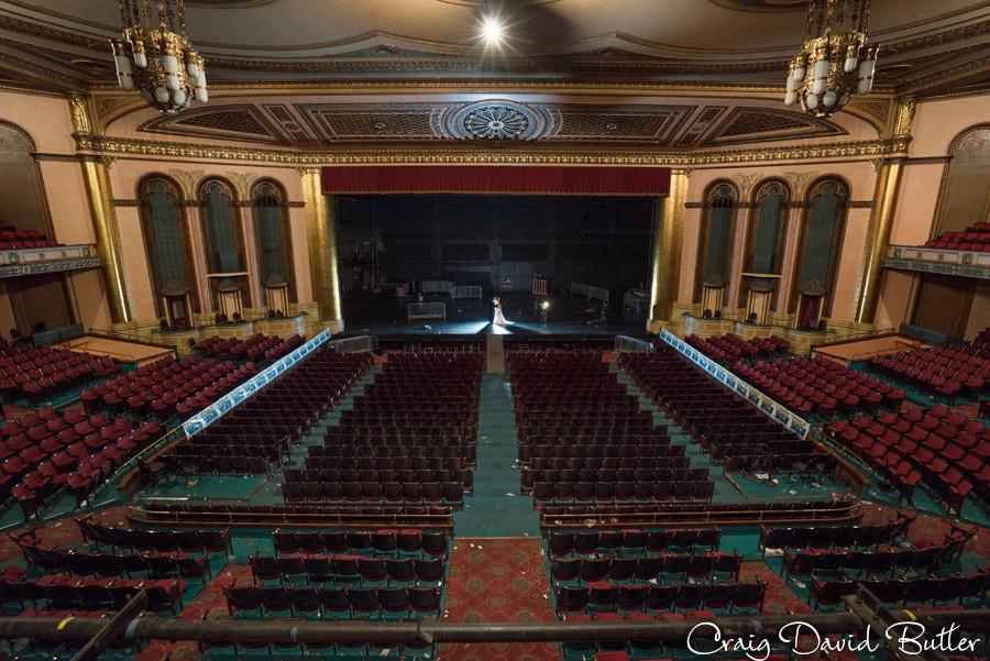 Stage of the Masonic Temple Masonic Temple Detroit MI- Wedding Photographer Craig David Butler