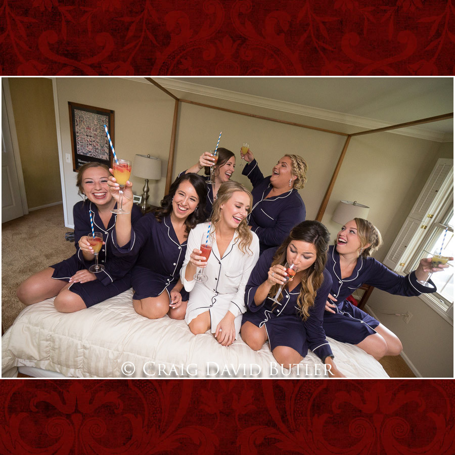 Bride Bridesmaids Poses Wedding Photographer Michigan, St. Johns Plymouth, CDB Studios