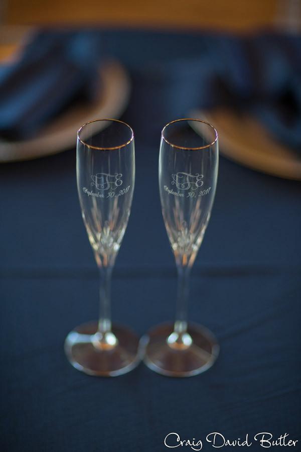 Wedding Champagne Flutes Brighton Wedding Photographer - Craig David Butler - Oak Pointe CC