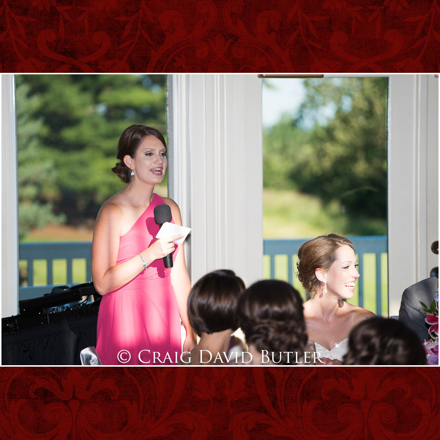 MOH Toast Clarkston Wedding Photographer - Oakhurst CC, Craig David Butler