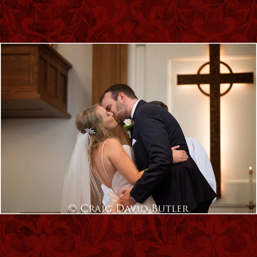 First Kiss wedding Wedding Photographer Michigan, St. Johns Plymouth, CDB Studios