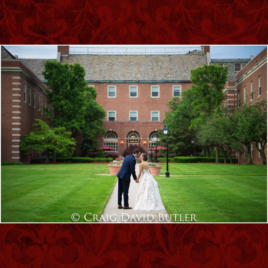 Bride Groom Poses Dearborn Inn Wedding Photo- Detroit Michigan Wedding Photographer - CDB Studios