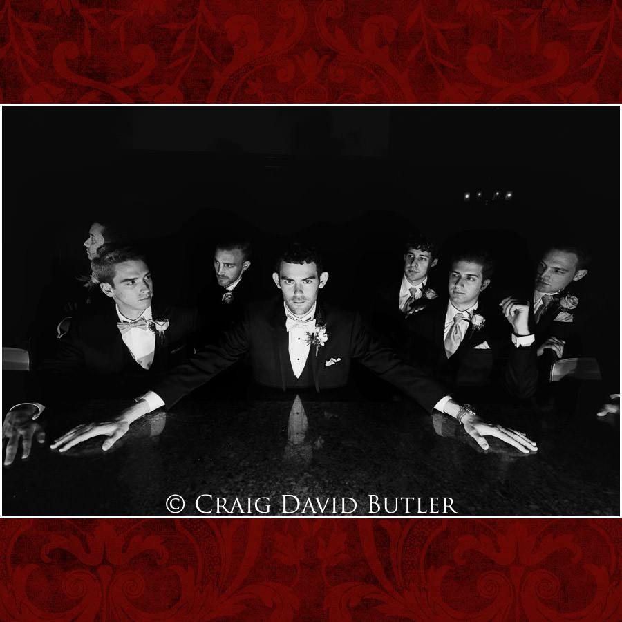 Groomsmen Pose - Dearborn Inn Wedding Photo- Detroit Michigan Wedding Photographer - CDB Studios