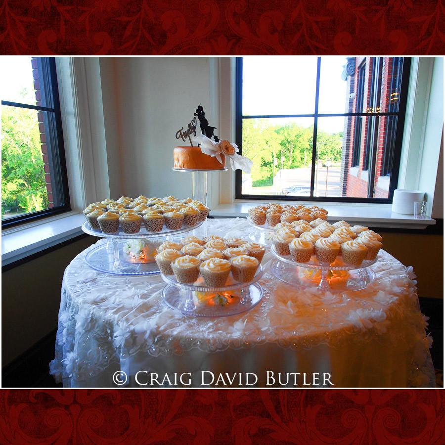 Cupcakes wedding cake Detroit Wedding Photographer - South Haven Wedding, Heritage Hall Reception, WMU, Kalamazoo MI - CDB Studios