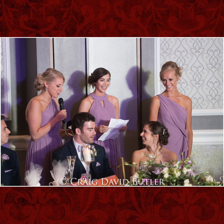 Bridesmaids Toast - Dearborn Inn Wedding Photo- Detroit Michigan Wedding Photographer - CDB Studios
