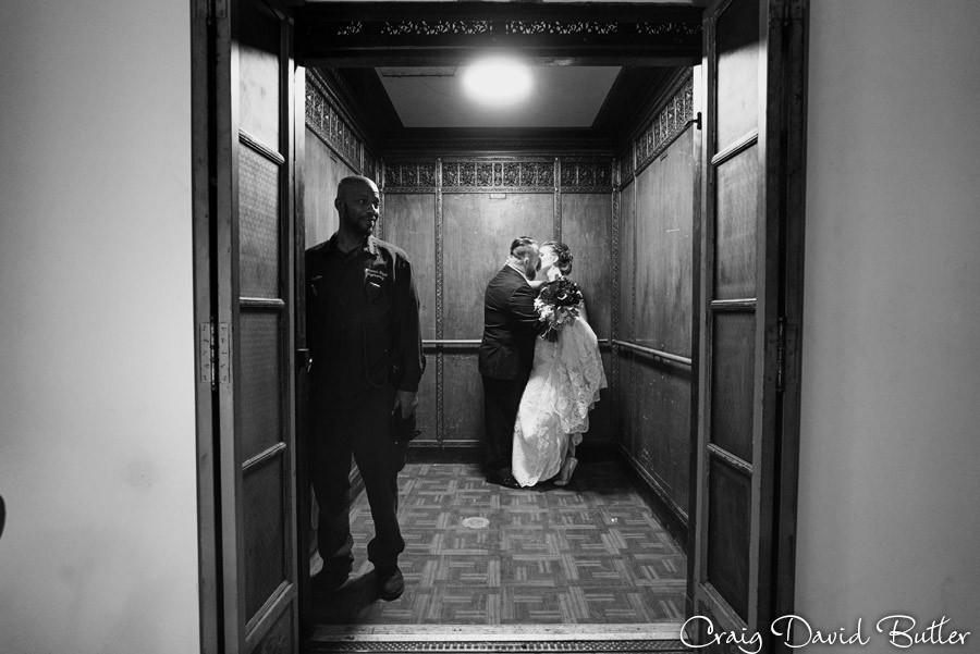 Elevator operator Masonic Temple Detroit MI- Wedding Photographer Craig David Butler
