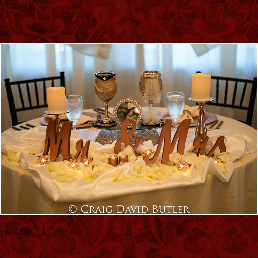 Sweetheart Table - Detroit Wedding Photographer - South Haven Wedding, Heritage Hall Reception, WMU, Kalamazoo MI - CDB Studios