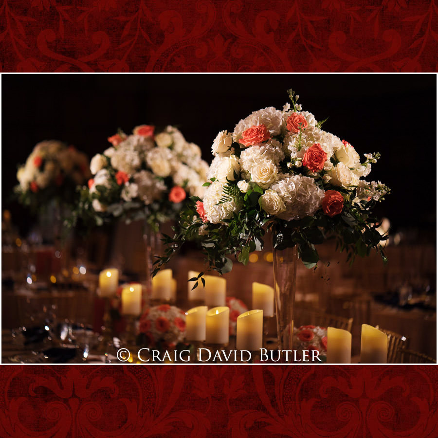 Lit center pieces - Wedding Photos, Michigan League, St. Francis Azizi, Ann Arbor MI, CDBStudios