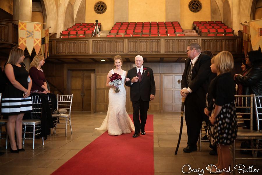 Bride procession Masonic Temple Detroit MI- Wedding Photographer Craig David Butler