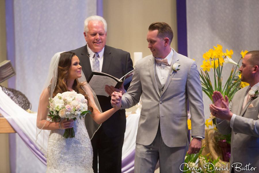 we're married St. John's Plymouth Grand Ballroom Wedding, Craig David Butler