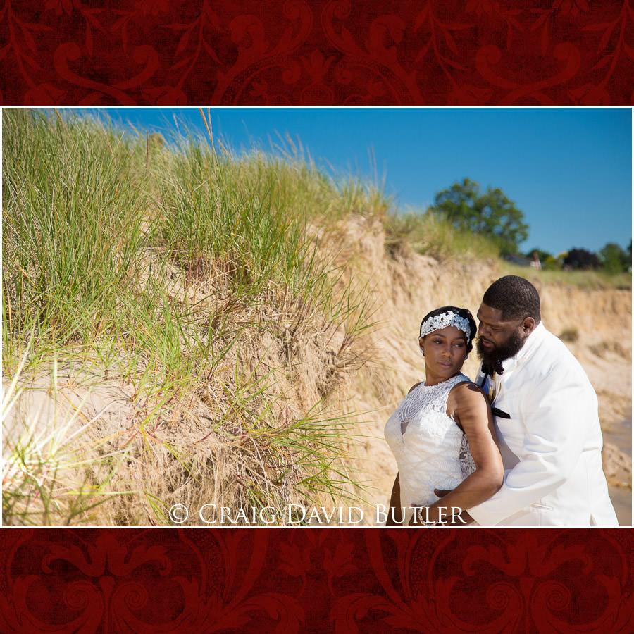 Bride & Groom - South Haven Beach Poses Detroit Wedding Photographer - South Haven Wedding, Heritage Hall Reception, WMU, Kalamazoo MI - CDB Studios