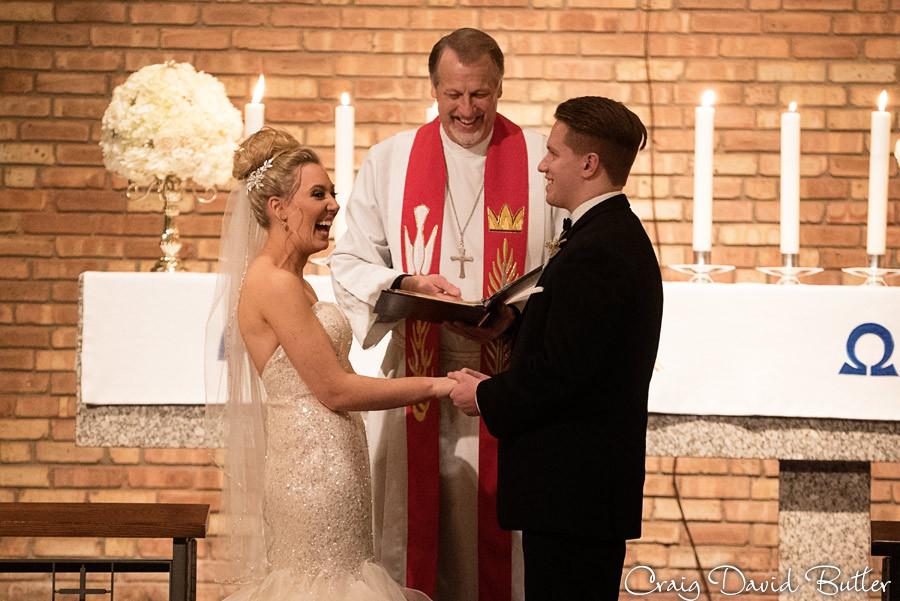 Vows, Wedding Ceremony , Winter wedding at the Reserve in Birmingham MI - Craig David Butler