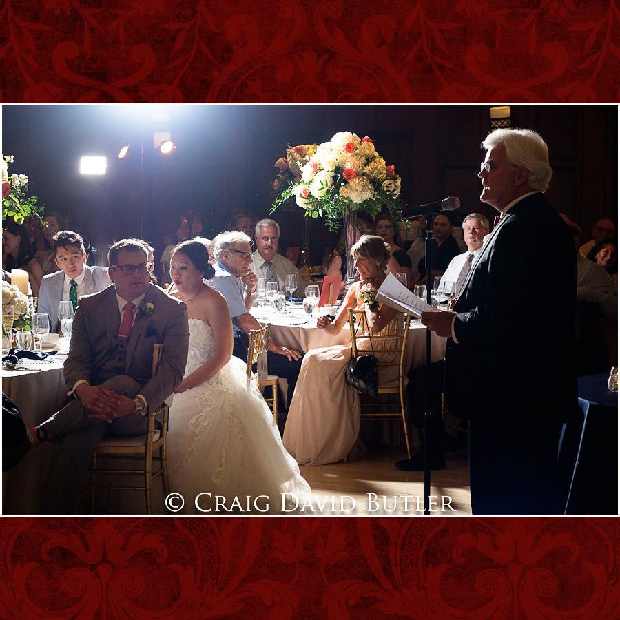 Toasts - Wedding Photos, Michigan League, St. Francis Azizi, Ann Arbor MI, CDBStudios