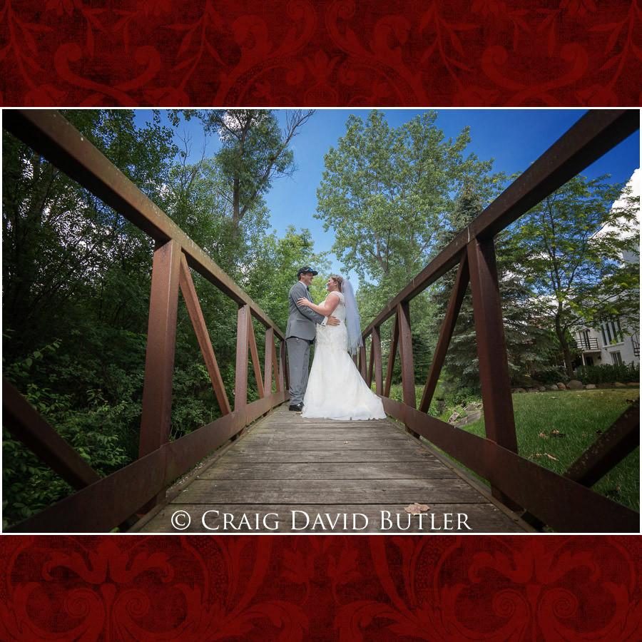 Bride Groom Bridge - Michigan-Wedding-Photographer-Novi-CraigDavidButler