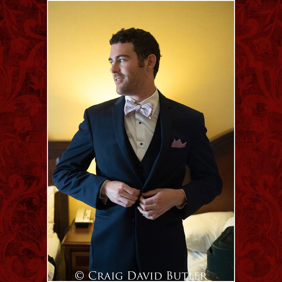 Groom - Dearborn Inn Wedding Photo- Detroit Michigan Wedding Photographer - CDB Studios