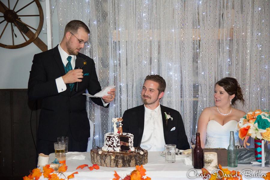 Best Man Toast Marquette Wedding Photography Craig David Butler Detroit