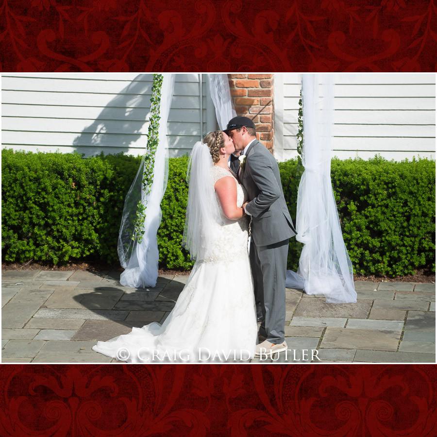 First Kiss - Michigan-Wedding-Photographer-Novi-CraigDavidButler