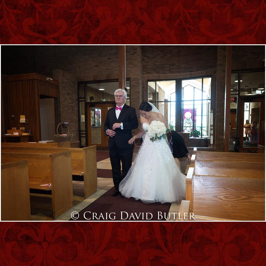 Bride - Processional - Wedding Photos, Michigan League, St. Francis Azizi, Ann Arbor MI, CDBStudios