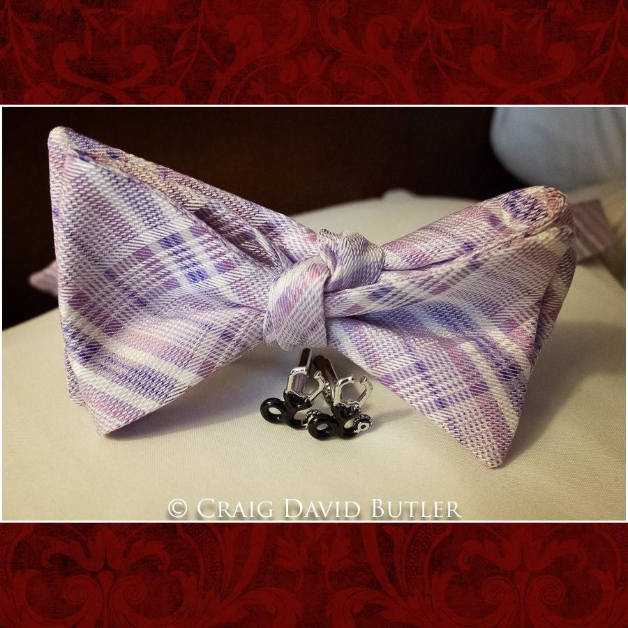 Groom bow tie Dearborn Inn Wedding Photo- Detroit Michigan Wedding Photographer - CDB Studios