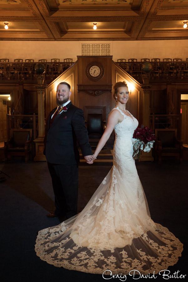 Bride & Groom Photos Masonic Temple Detroit MI- Wedding Photographer Craig David Butler