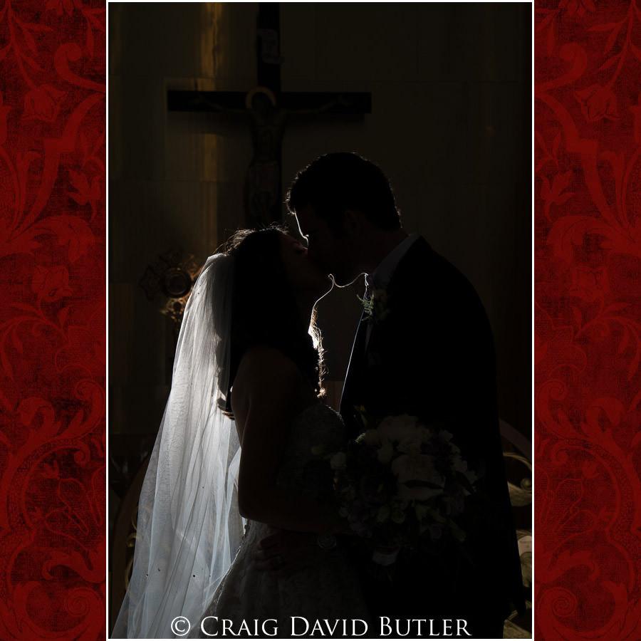 Silhouette Wedding Photo - Dearborn Inn Wedding Photo- Detroit Michigan Wedding Photographer - CDB Studios
