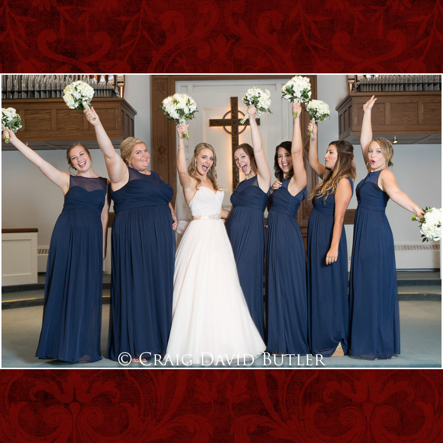 Bridesmaids Wedding Photographer Michigan, St. Johns Plymouth, CDB Studios