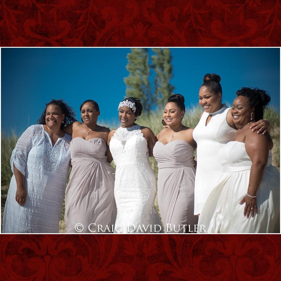 Bride & the Girls Detroit Wedding Photographer - South Haven Wedding, Heritage Hall Reception, WMU, Kalamazoo MI - CDB Studios