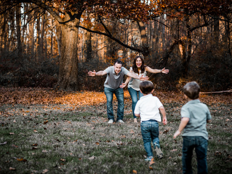 Fall Family Session for Karen, Jeff and Ben and Jack.