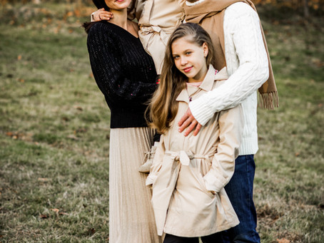 Dima, Yana, Mila and Diana. Fall Family Session