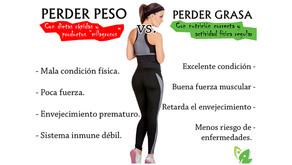 10 diferencias entre perder peso y perder grasa