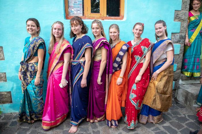 Girls in Sari's.JPG