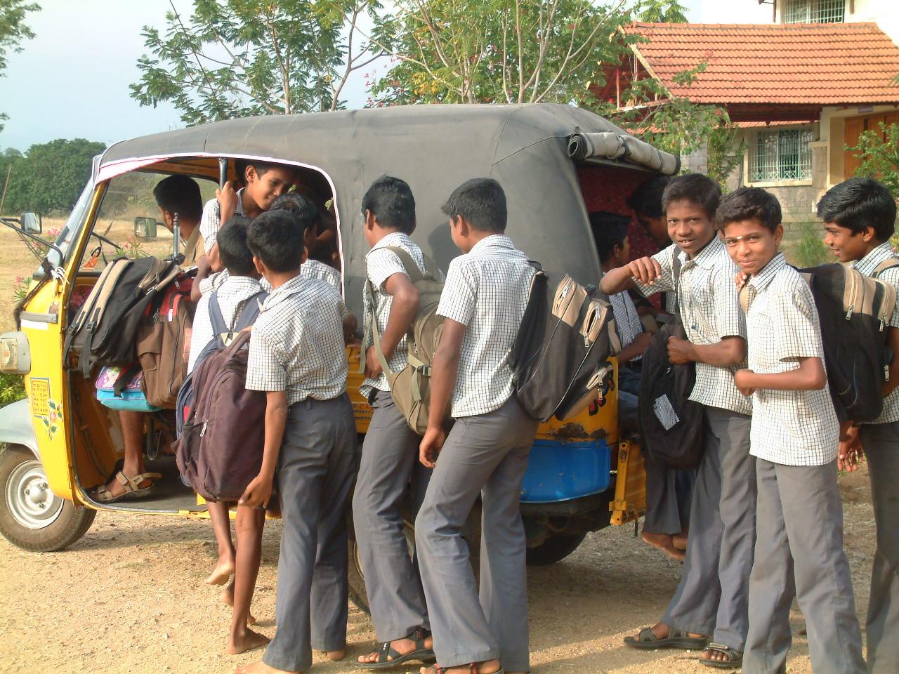 Jnr Boys going to school 01