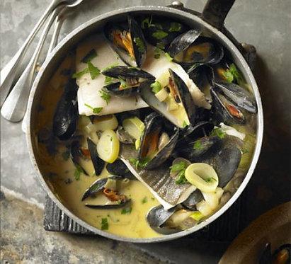 Normandy fish stew (Marmite Dieppoise)