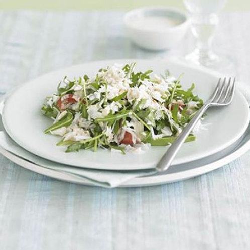 Crab, avocado & rocket salad