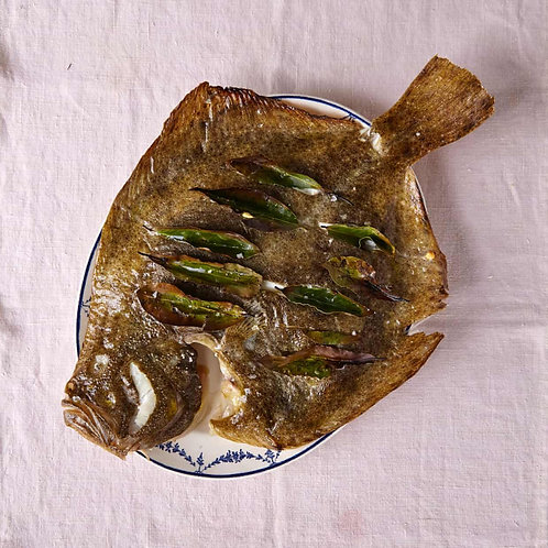 Simple baked turbot